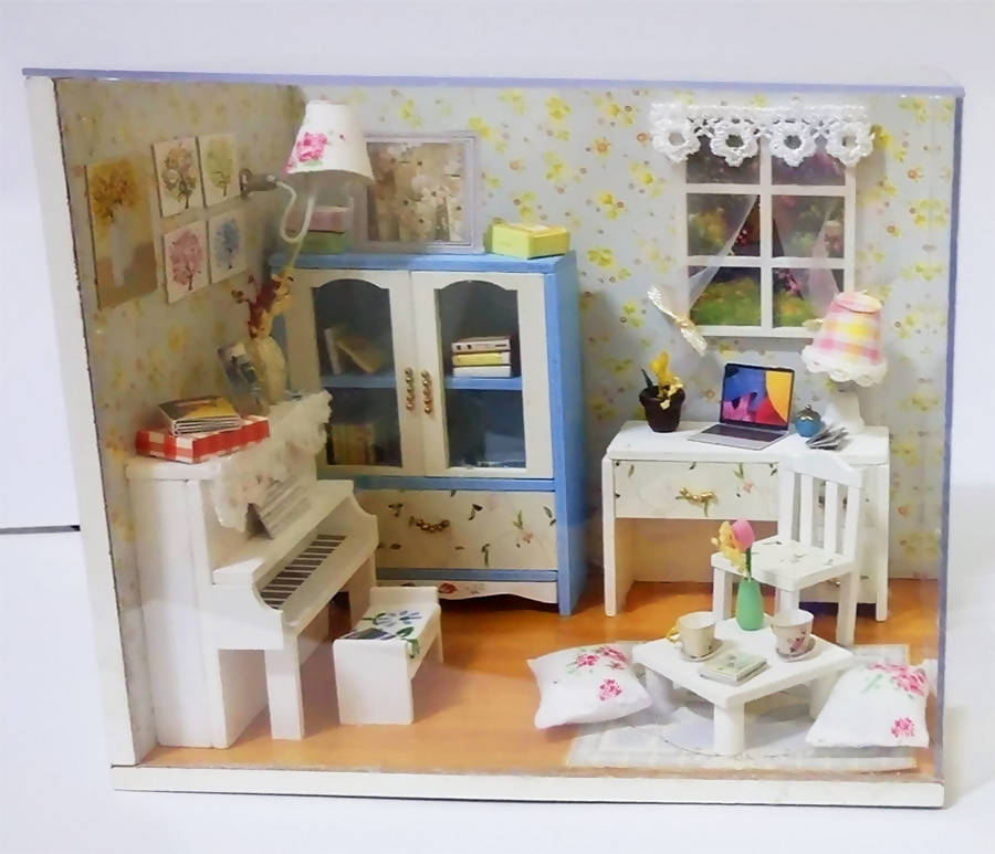 Miniature Leisure Room In A Transparent Box