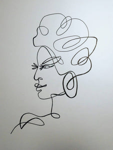 african lady line art