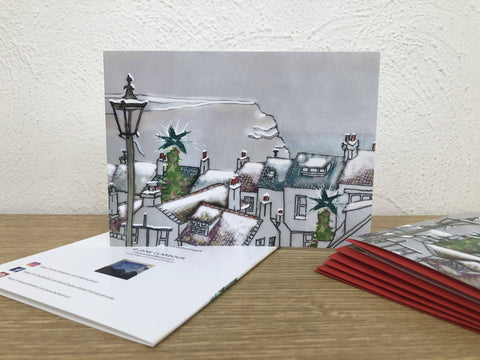 Snowy Rooftops pack of 6 Christmas Cards
