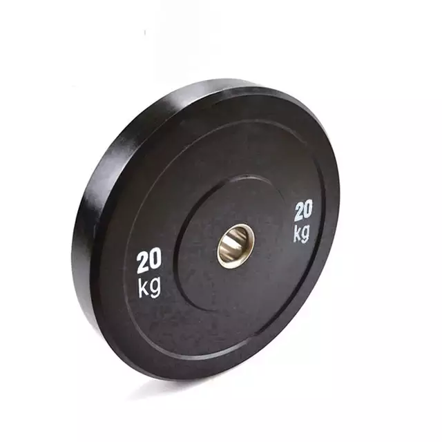 100kg Black Rubber Bumper Plate Set