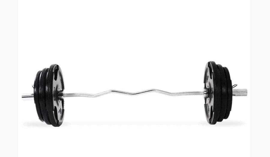EZ Curl Bar set (2.5kg and 5kg trigrip plates)