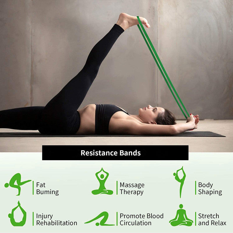 Resistance Power Bands (Set of 4 - Intermediate Pack) with free carry bag.