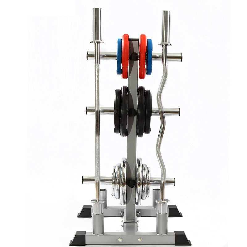 Weight Plate and Barbell Tree Storage from Fitness Equipment Cork