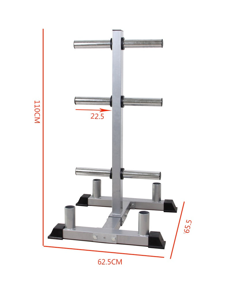 Weight Plate and Barbell Tree Storage with Dimensions from Fitness Equipment Cork