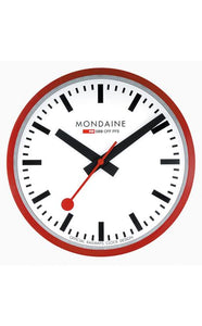 Mondaine Wall Clock red