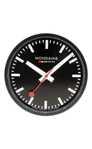 Mondaine Wall Clock black 25cm