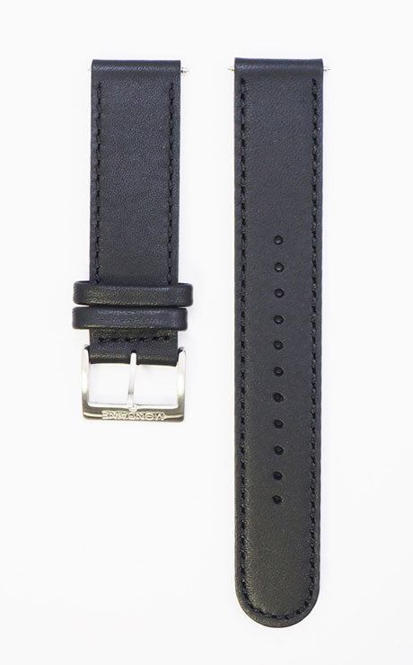 Mondaine strap black 20mm mat