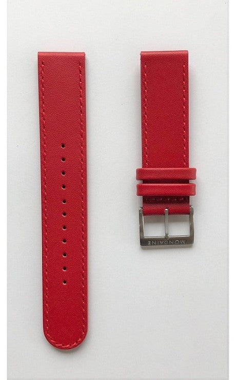 Mondaine strap red 20mm mat