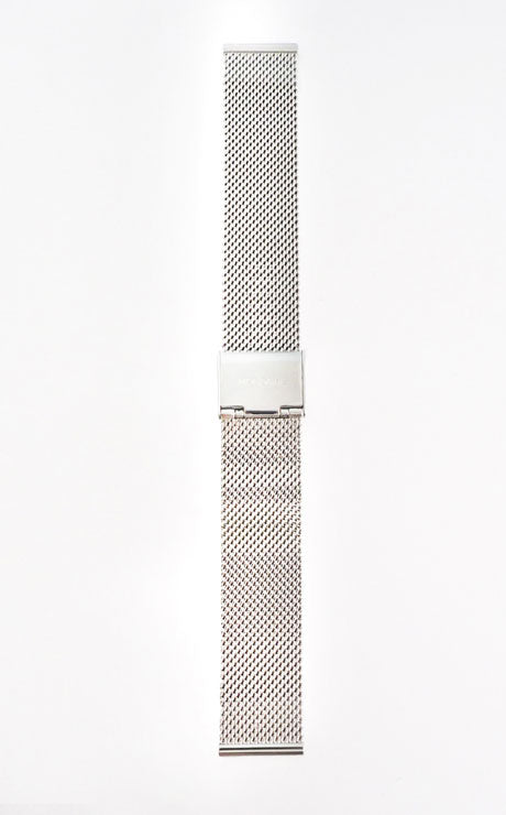 Mondaine strap 18mm silver bracelet polished