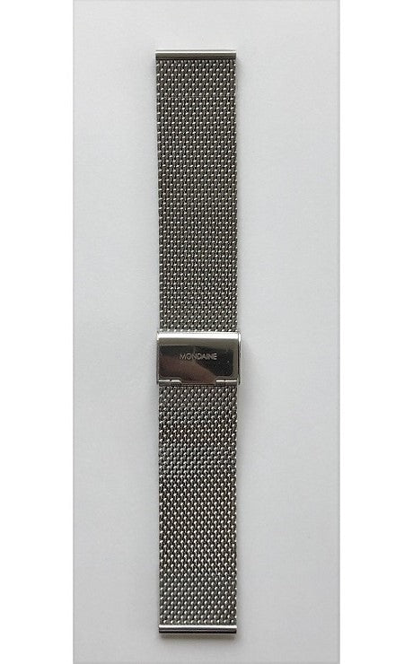 Mondaine strap 22mm silver bracelet polished