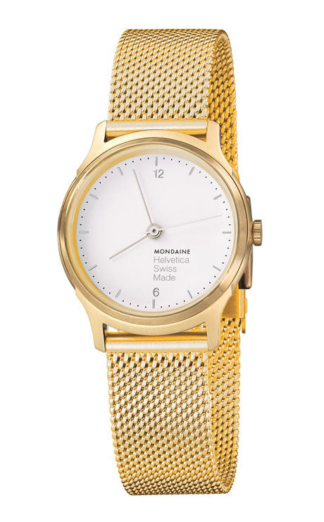 Mondaine Helvetica light 26mm gold