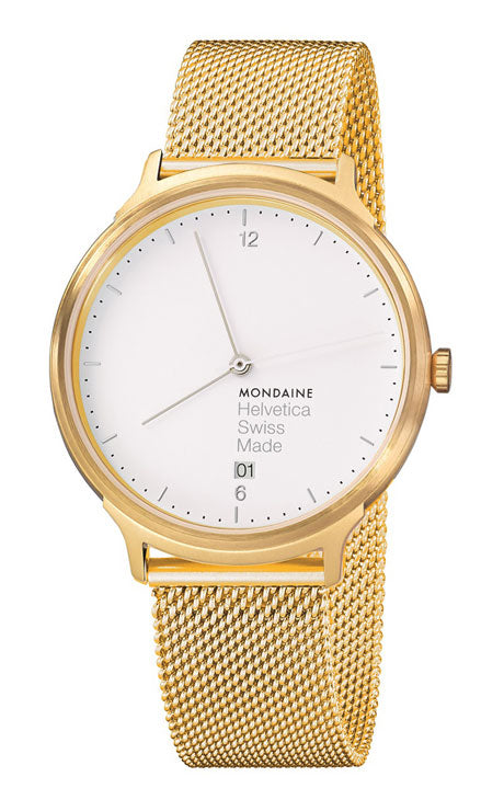 Mondaine Helvetica light 38mm gold