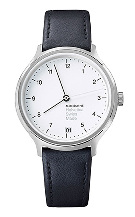 Mondaine Helvetica regular 33mm white black