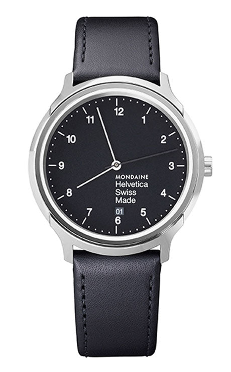 Mondiane Helvetica regular 40mm black