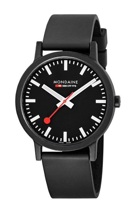 Mondaine essence black dial 41mm
