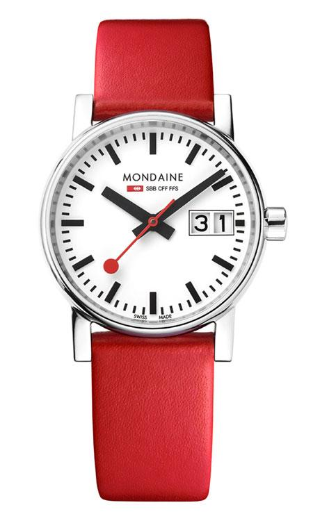 Mondaine evo2 big date 30mm red
