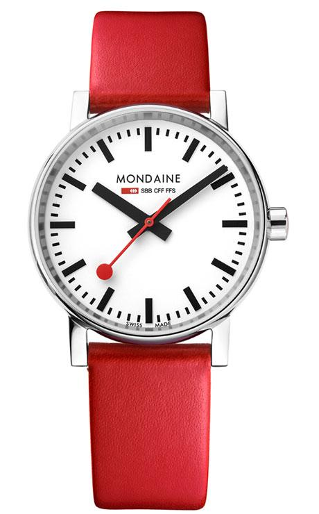 Mondaine evo2 red 35mm