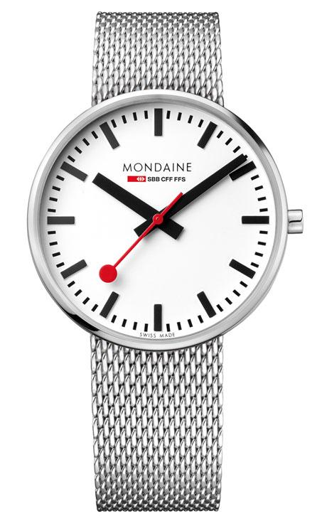 Mondaine giant backlight 42mm mesh bracelet