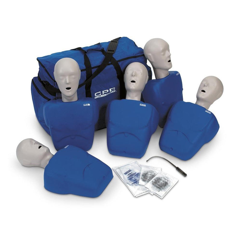 CPR Prompt® Training and Practice Manikin - TPAK 100 Adult-Child 5-Pack, Blue
