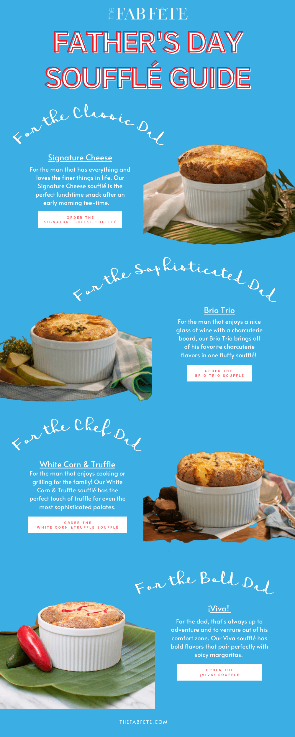 The Fab Fête Cheese Soufflés Delivered - Father's Day Soufflé Guide