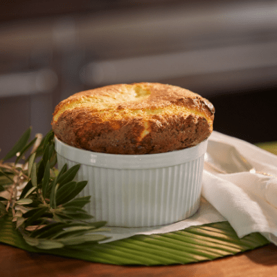 Signature Cheese Souffle in Dish by The Fab Fête Souffles