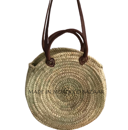 Stylish Handwoven Round Straw Bag-Craftology-Handmade Artisan