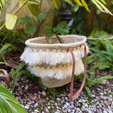 Fringed Moroccan Handmade Straw Bag