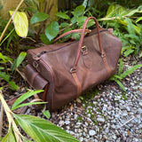 Large Dark Brown Duffle Bag Handmade in Morocco