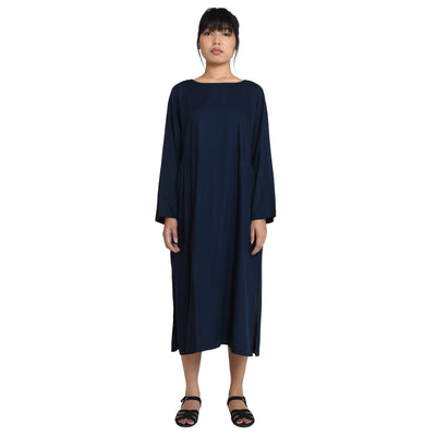 Boat Neckline Modal Long Dress Dress Vayu