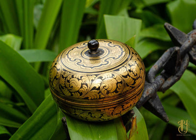 Burmese Lacquer-2 Container Pot Vayu - Design for living