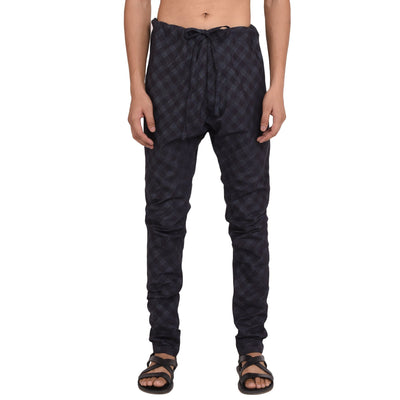 CHECK DENIM CHURIDAR PANTS Pants Vayu