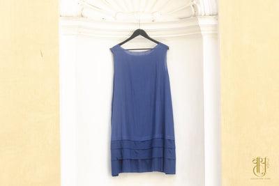 D-3 Fringy Layer Indigo Dress Dress Vayu L