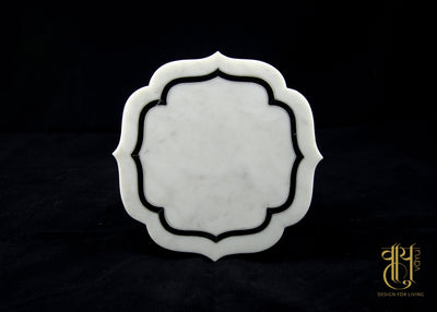 GEOMETRIC PATTERN COASTER WITH SIDE INLAY Coaster Vayu