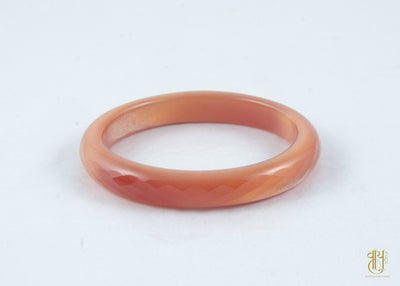 Glass Crystal Bangle Diamond Cut jewellery Vayu Single Orange