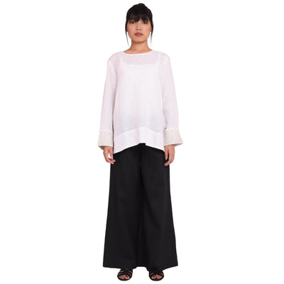 Hagi + Hanuno Trousers Shirt and Trouser Whitechampa Top