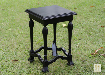 Handcrafted Colonial Wooden Occasional Table Tables Vayu