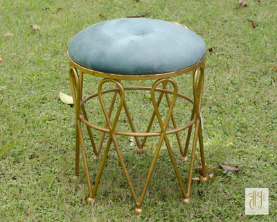 Handcrafted Crown Ottoman Stool Vayu