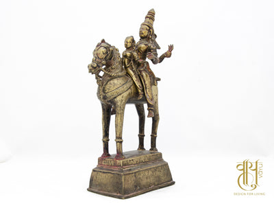 Khandoba And Mhalsa Riding A Horse Object Vayu