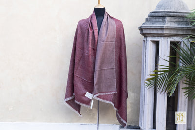 Rosewood And Oldrose Color Reversible Pashmina Shawl Vayu