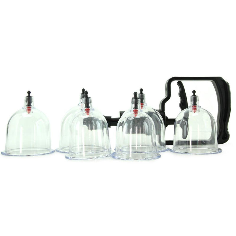 beginner s 6pc cupping set in clear