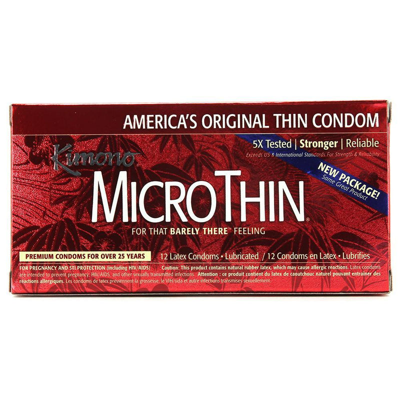 microthin condoms in 12 pack