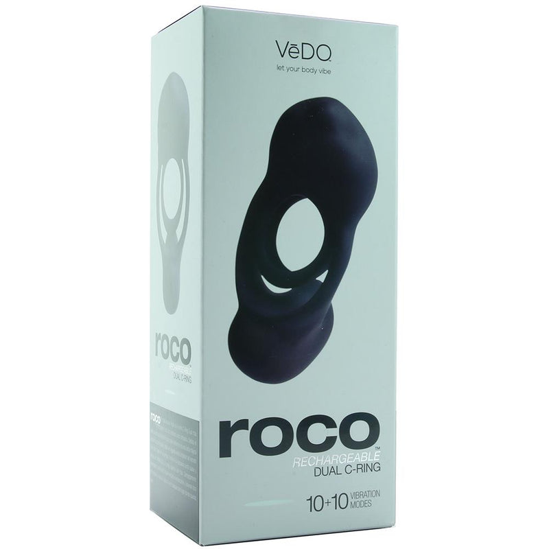 Roco Rechargeable Dual Vibrating C-Ring
