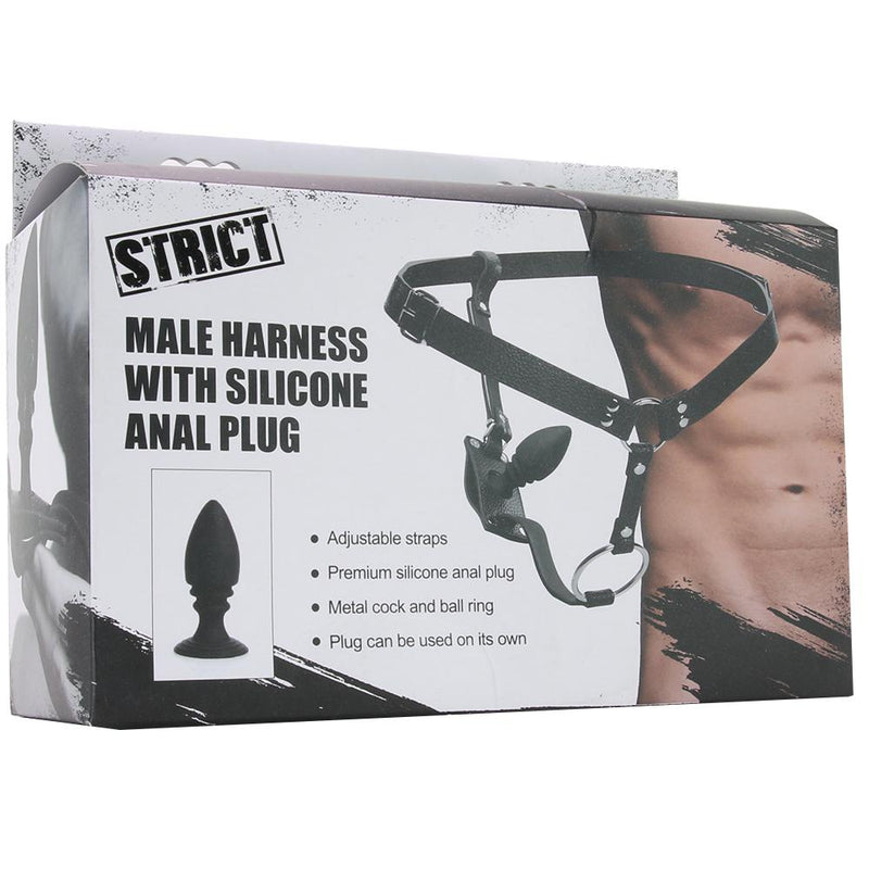 Strict Male Harness with Silicone Anal Plug
