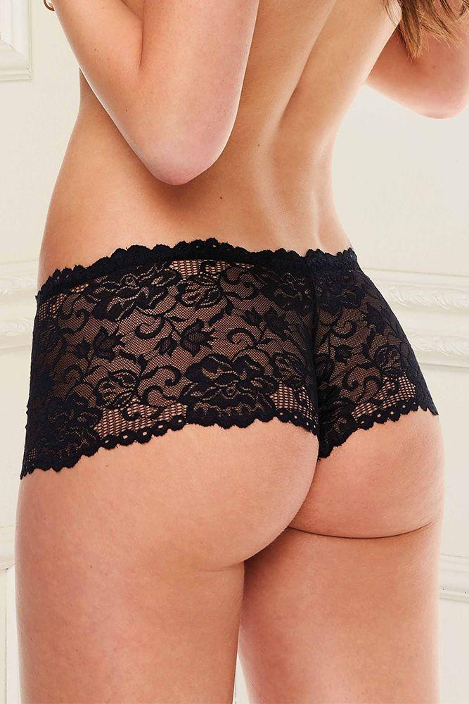 Sense of Lace Black Boyshort