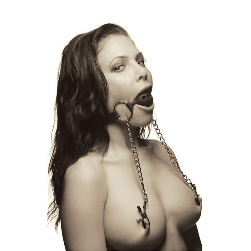 hinder breathable gag nipple clamps