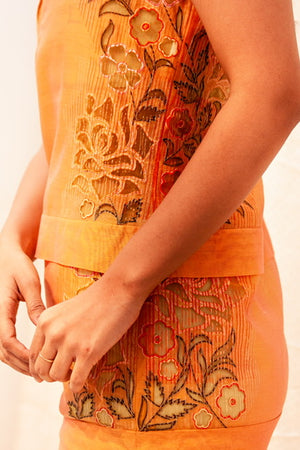 Chanderi short dress