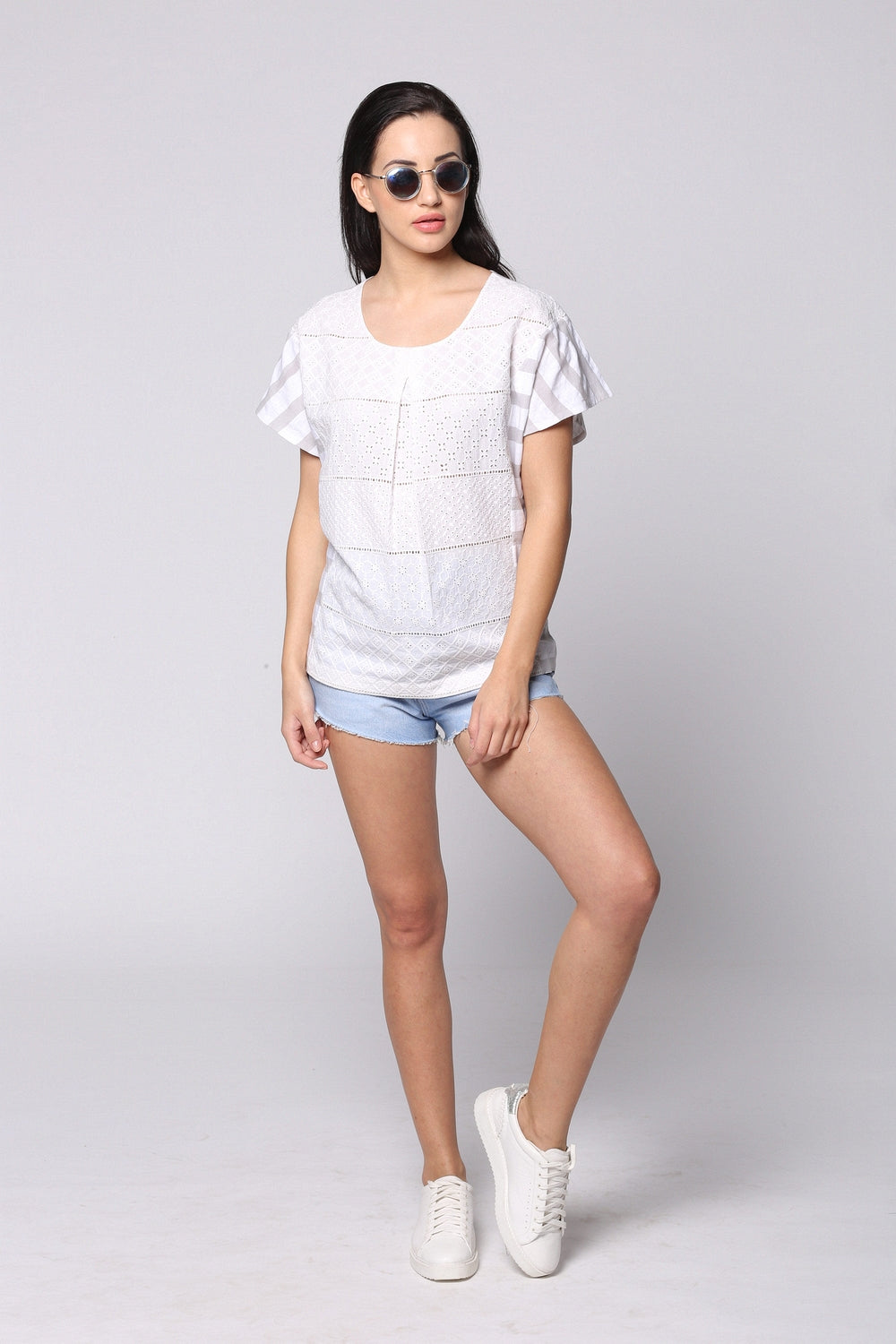 White Lacy Free Spirited Top