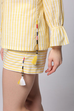 Peppy Striped Shorts
