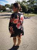 V-neck Floral Tunic Dress