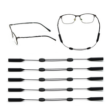 Load image into Gallery viewer, Eyeglass Straps 5 Pack - Eyewear Adjustable Dual Sliders Sunglass Holder Strap